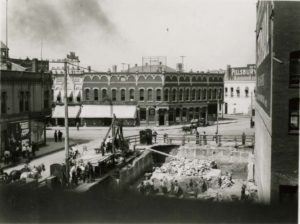 First National Bank Construction 1911 credit Library